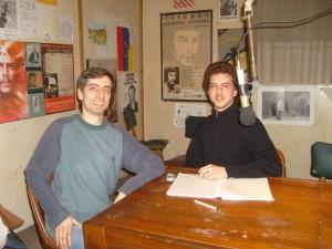 Antonio Sacco en el estudio de Futura